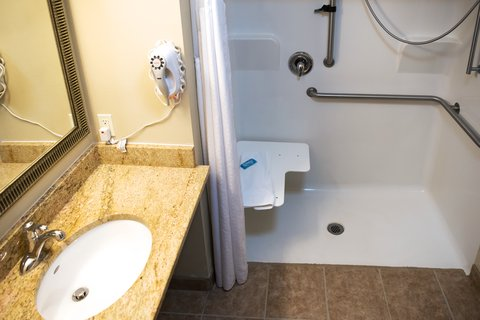 Holiday Inn Express DEVILS LAKE - Wheelchair accessible bathroom and shower