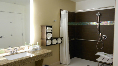 Holiday Inn Express & Suites Pocatello - Wheelchair Accessible Roll in Shower