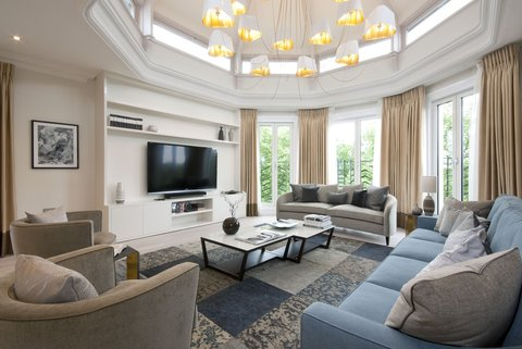 فونتيين هاوس - Penthouse Room Living Room