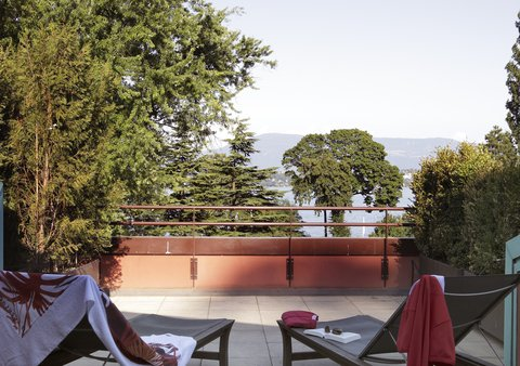 日内瓦香格里拉酒店及温泉 - Deluxe Lake View Room - Terrace