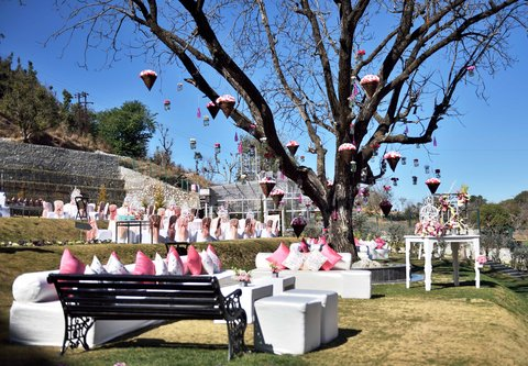 JW Marriott Mussoorie Walnut Grove Resort & Spa - Pre-wedding Ceremony Set-up at JW Lawns
