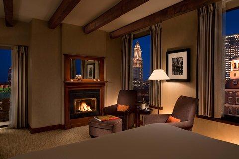 Millennium Bostonian Hotel Boston - Junior Suite  Fireplace