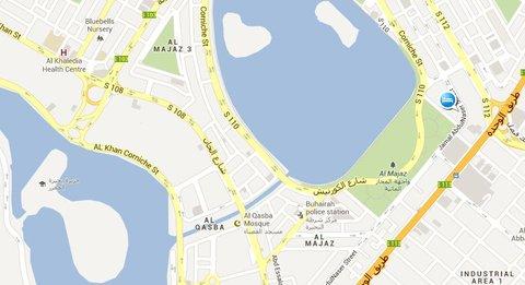 المجاز للشقق الفندقية - Location map