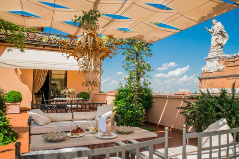 Grandhtl Majestic Gia Baglioni - Art Deco Suite Terrace View