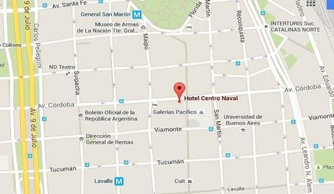 Hotel Centro Naval - Map