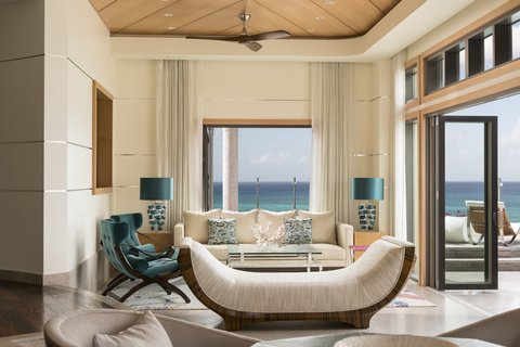 The Ritz-Carlton, Grand Cayman - Seven South Penthouse Living Room Left Side With View