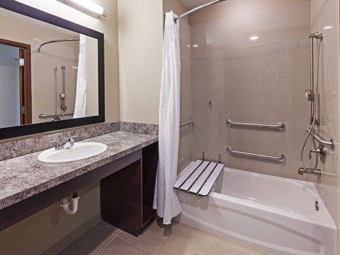 Holiday Inn Express & Suites GLENPOOL-TULSA SOUTH - King ADA Bathroom
