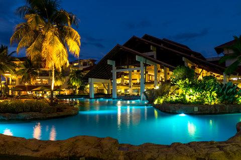 The Magellan Sutera - Night View Poolside at The Magellan Sutera Resort