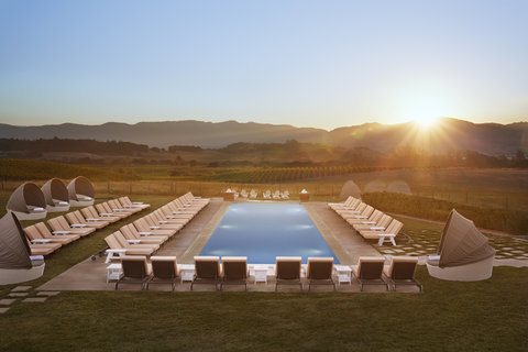 The Carneros Inn Preferred Hotels and Resorts - Main Pool Evening