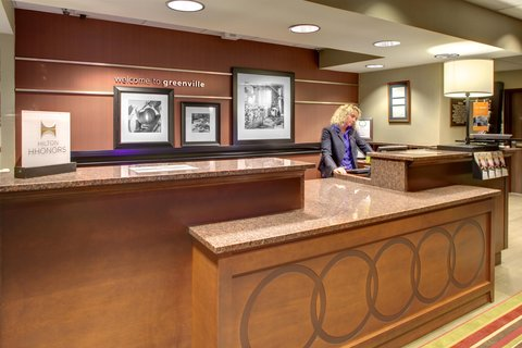 Hampton Inn Greenville-Woodruff Road - Front Desk