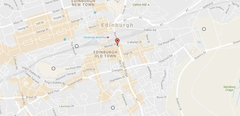 The Scotsman Hotel Preferred Hotels and Resorts - Hotel Map