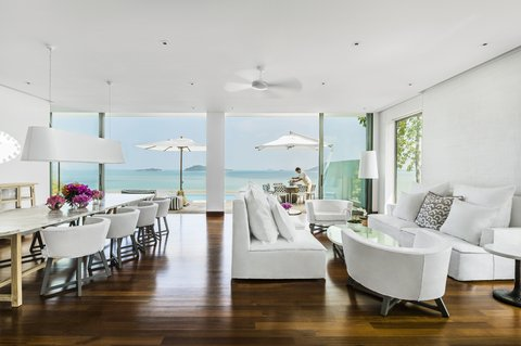 Point Yamu By Como - COMO Pool Villa Living Area And Dining Room