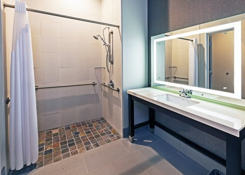 Holiday Inn Express & Suites KILLEEN - FORT HOOD AREA - ADA Handicapped accessible Guest Bathroom with roll-in shower
