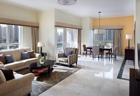 فندق ماريوت هاربر دبي - Two-Bedroom Suite - Living Room