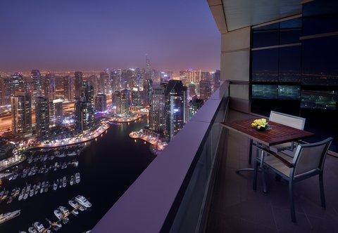 فندق ماريوت هاربر دبي - Three-Bedroom Marina View Suite - Balcony