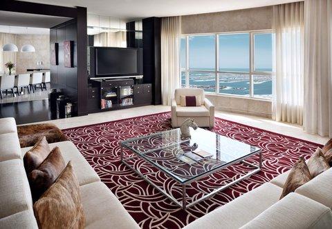 فندق ماريوت هاربر دبي - Three-Bedroom Penthouse Suite - Living Room