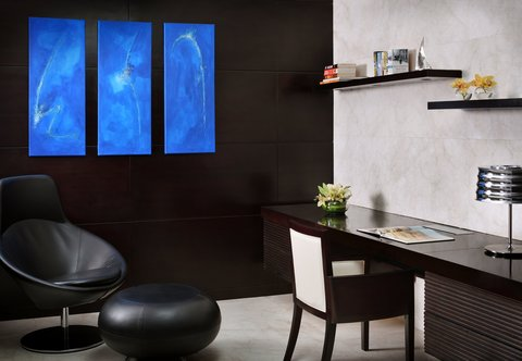 فندق ماريوت هاربر دبي - Three-Bedroom Penthouse Suite - Study