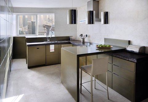 فندق ماريوت هاربر دبي - Three-Bedroom Penthouse Suite - Kitchen