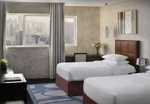 فندق ماريوت هاربر دبي - Three- Bedroom Penthouse Suite - Twin Bedroom