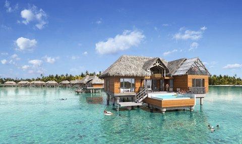 إنتركونتيننتال بورا بورا آند ثالاسو سبا - End of Pontoon 2 Bedroom Overwater Villa with pool
