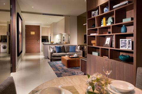 Ascott Waterplace Surabaya - 1-Bedroom Apartment s Living Room