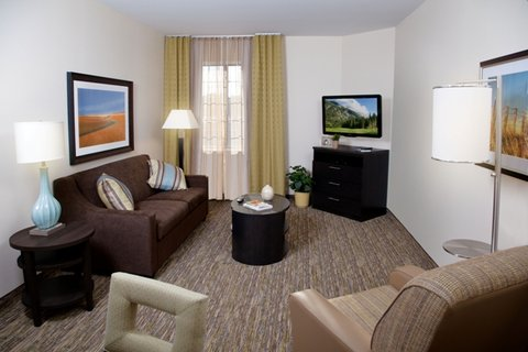 Candlewood Suites Odessa Hotel - One Bedroom Suite-Living Room
