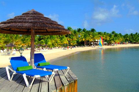 St. James Club All Inclusive Hotel - Sunbeds On Mamora Beach