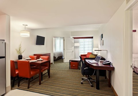 Residence Inn Little Rock Downtown - King   Queen Queen Two-Bedroom Suite Living Area