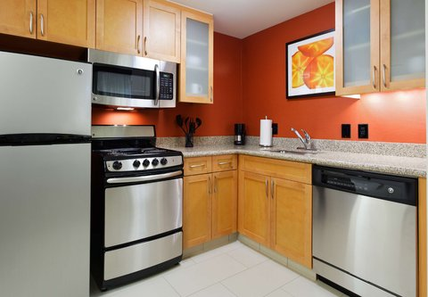 Residence Inn Little Rock Downtown - One   Two Bedroom Suite Kitchen