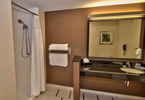 Fairfield Inn & Suites Towanda Wysox - King Guest Room Bathroom