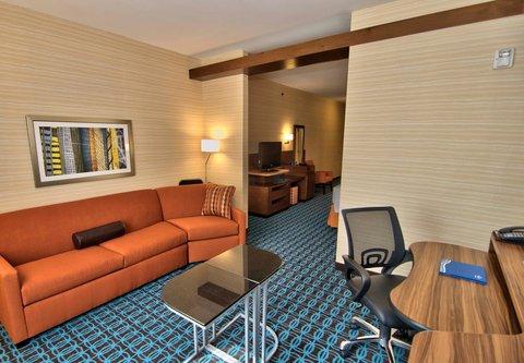Fairfield Inn & Suites Towanda Wysox - Suite Living Area