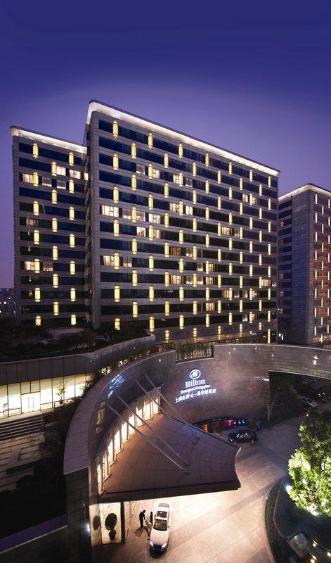 Hilton Shanghai Hongqiao Kilátás a szabadba