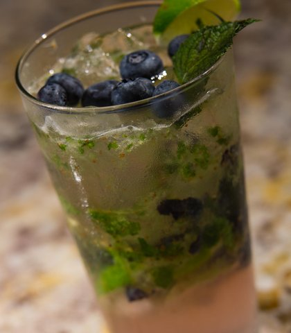 Gaithersburg Marriott Washingtonian Center - The Bench - Blueberry Mojito