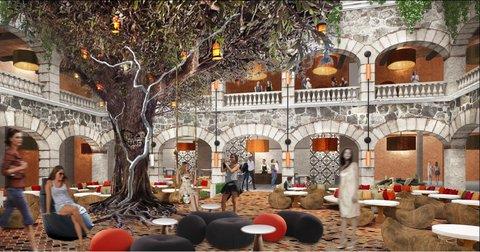 Hard Rock Hotel Riviera Maya - HRHRMLobby With Tree