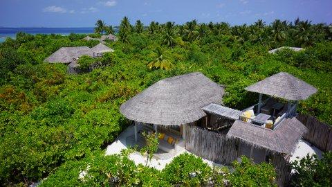 Six Senses Laamu - Ocean Beach Villas Aerial