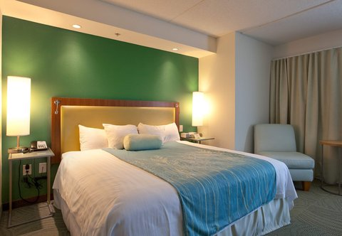 SpringHill Suites Athens - King Suite Sleeping Area