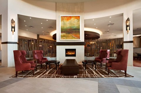 Embassy Suites Springfield - Lobby Fireplace