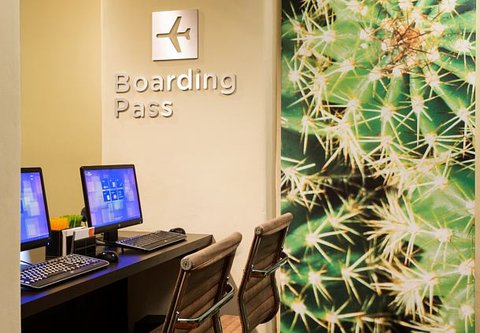 Courtyard Albuquerque - Business Center   Boarding Pass Station