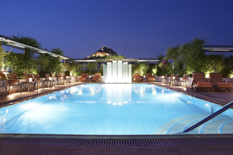 Hotel Grande Bretagne, a Luxury Collection Hotel, Athens - Rooftop Pool Lycabettus Night View