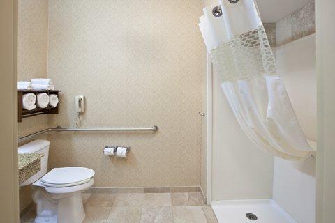 Hampton Inn Elkhart IN - IMGHampton Elkhart INAdashowerbathroom