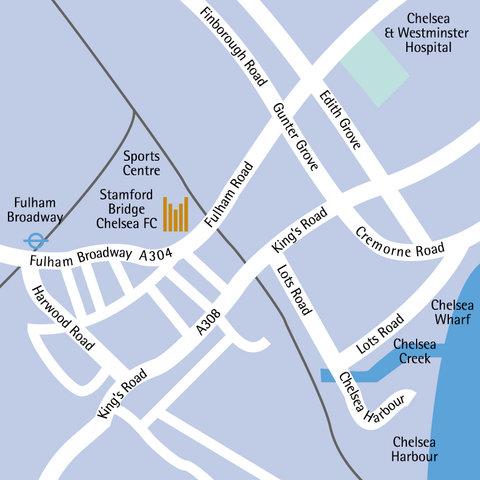 Millennium & Copthorne Hotels At Chelsea Football Club - Maps