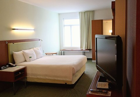 SpringHill Suites Cincinnati Midtown - King Suite   Sleeping Area