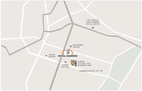 Diamond Hotel - Location map