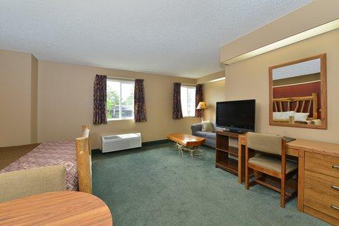 Americas Best Value Inn Kalispell - One Queen Bed Suite Amenities