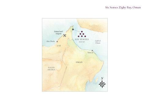 Six Senses Zighy Bay - SSZBLocation Map