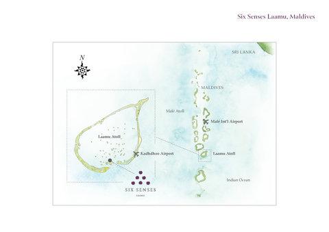 Six Senses Laamu - SSLMLocation Map