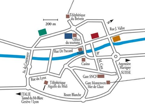Hotel Croix Blanche - Location MAp