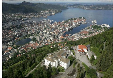Radisson Blu Royal Hotel, Bergen - Fra Fl Ien