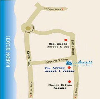 ACCESS Resort And Villas - Location Map