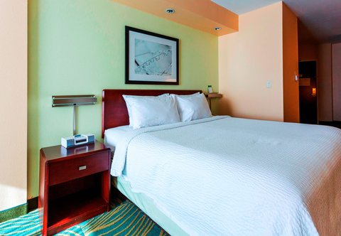 SpringHill Suites by Marriott Boston Devens Common Center - King Suite   Sleeping Area